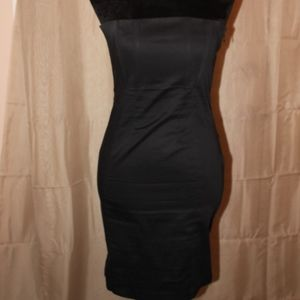 Black Betsey Johnson Strapless Coctail Dress